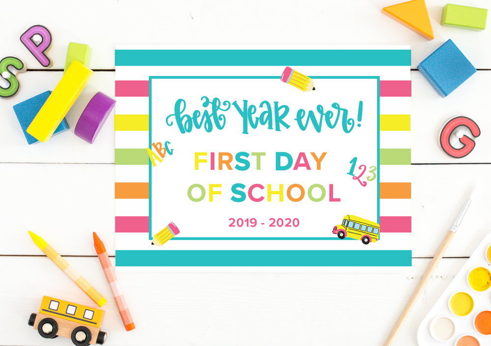 First Day of School Printable Freebie