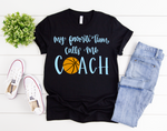 Basketball Coach Short Sleeve Tee