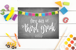 Personalized First Day of School Printable