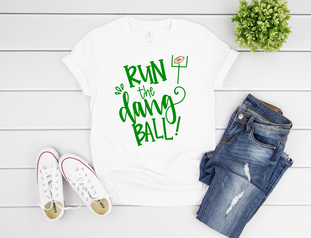 Run the Dang Ball Adult Short Sleeve Tee