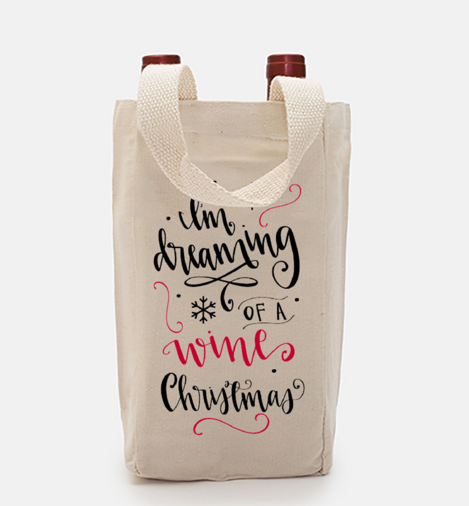 Wine Christmas Double Wine Tote