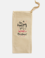 Wine Christmas Single Wine Tote