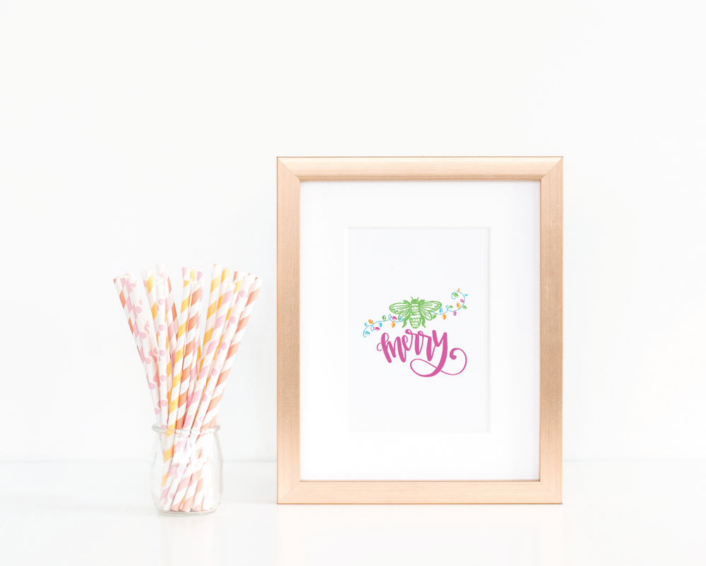 Bee Merry Art Print