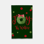 Joy Boxwood Wreath Garden Flag