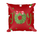 Joy Boxwood Wreath Pillow
