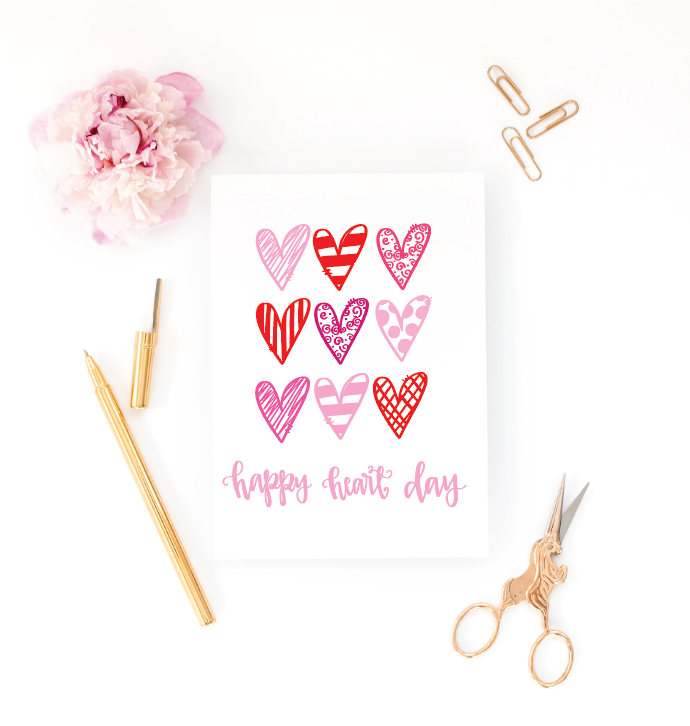 Happy Heart Day Greeting Card
