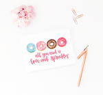 Love and Sprinkles Greeting Card