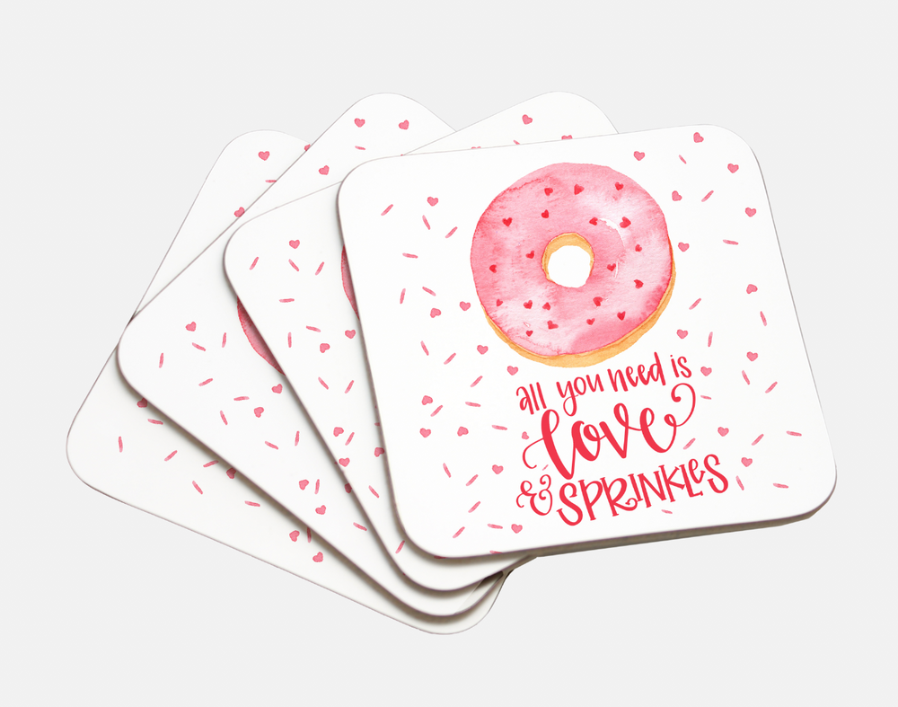 Love and Sprinkles Coasters