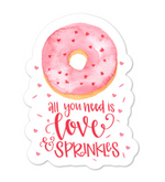 Love and Sprinkles Sticker