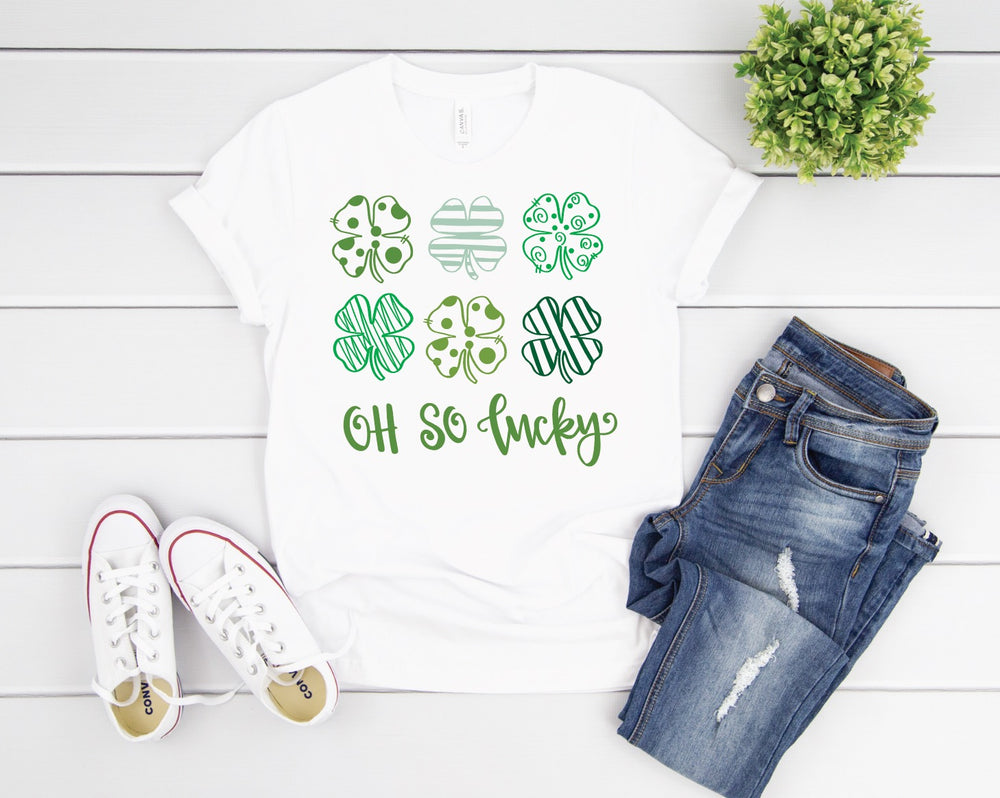 Oh So Lucky Shamrock Tee