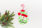 Green Santa Personalized Metal Ornament