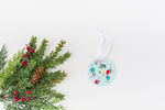 Christmas Lights Personalized Ceramic Ornament