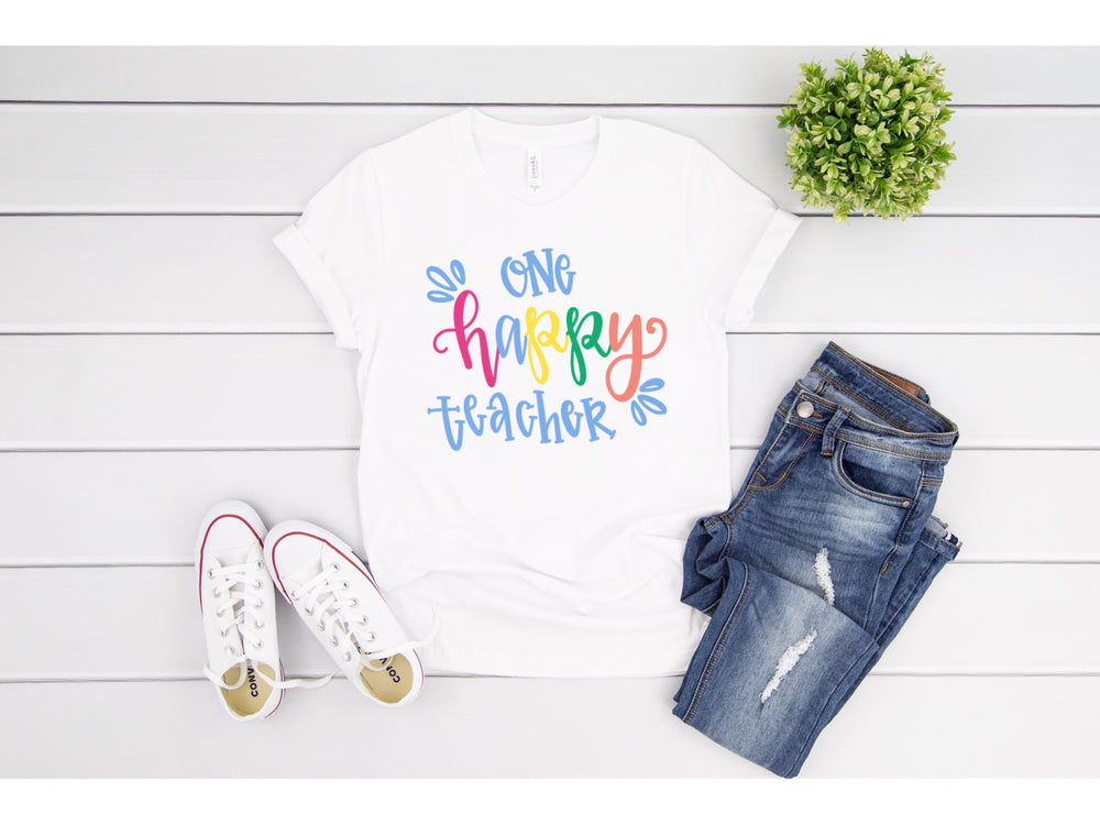 One Happy Teacher Short Sleeve Tee