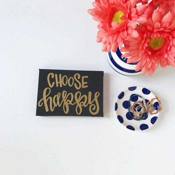 Choose Happy Canvas and Prints