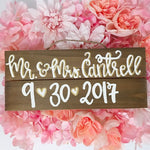 Mr. and Mrs. Mini Pallet Sign