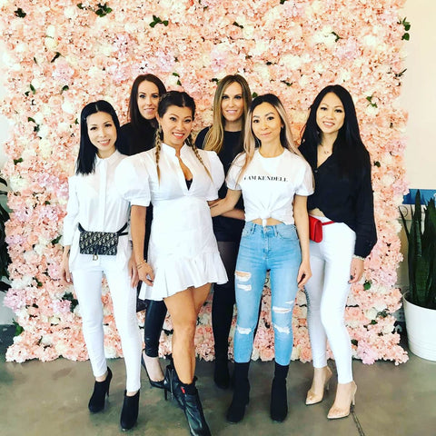 Rosé Designs YYC Flower Wall Rental at I AM Kendell Pop up Event
