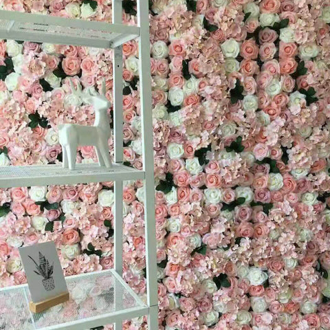 Rosé Designs Silk Flower Wall Pretty in Pink