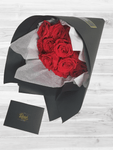 1 Dozen Forever Roses in black wrapping paper