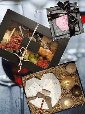 Date Night Package Rose Chocolate Charcuterie