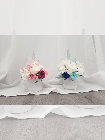 Pink and Blue Unicorn Eternal Rose Bouquets