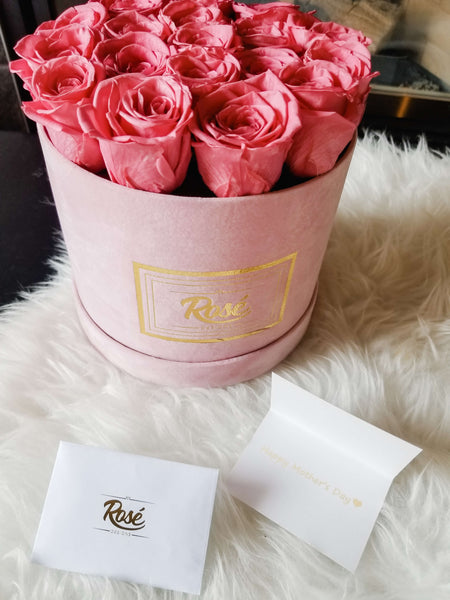 Rosé Designs Pink Velvet Rose Bouquet