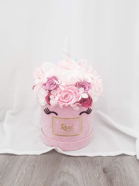 Pink Velvet Unicorn Rose Bouquet  Gift