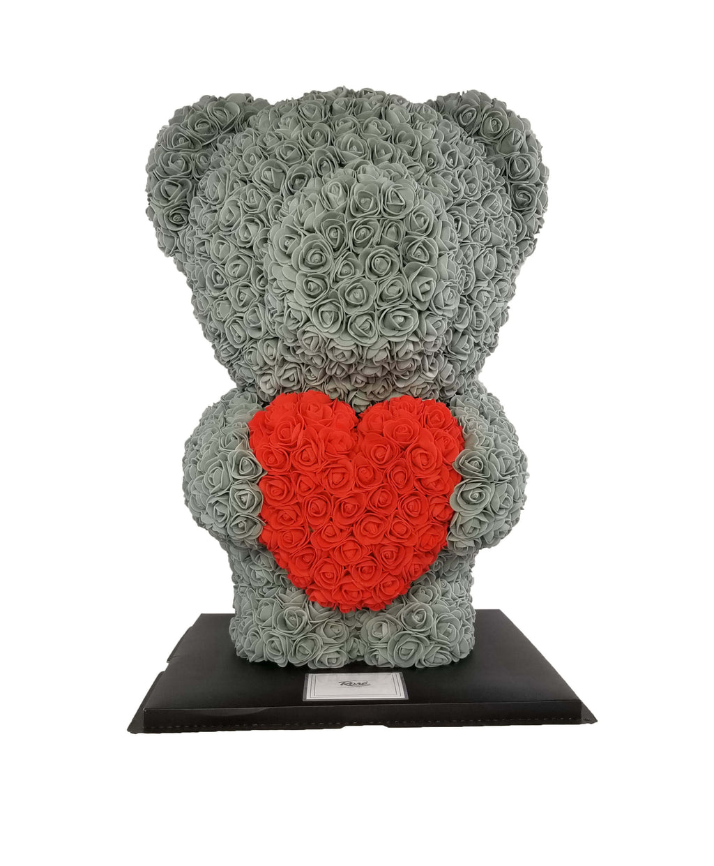 Standing Rose Bear - Soft Faux Roses - Rosé Designs YYC