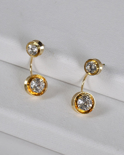 Metallic Crystal Inset Ear Cuffs