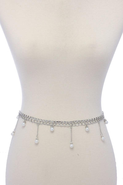 Pearl chain dangle belt