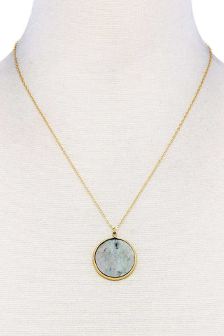 Fashion Circle Pendant Chic Necklace