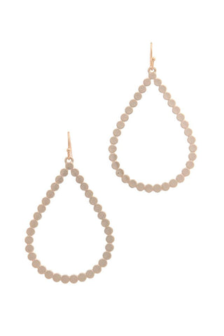 Metal Teardrop Shape Drop Earring