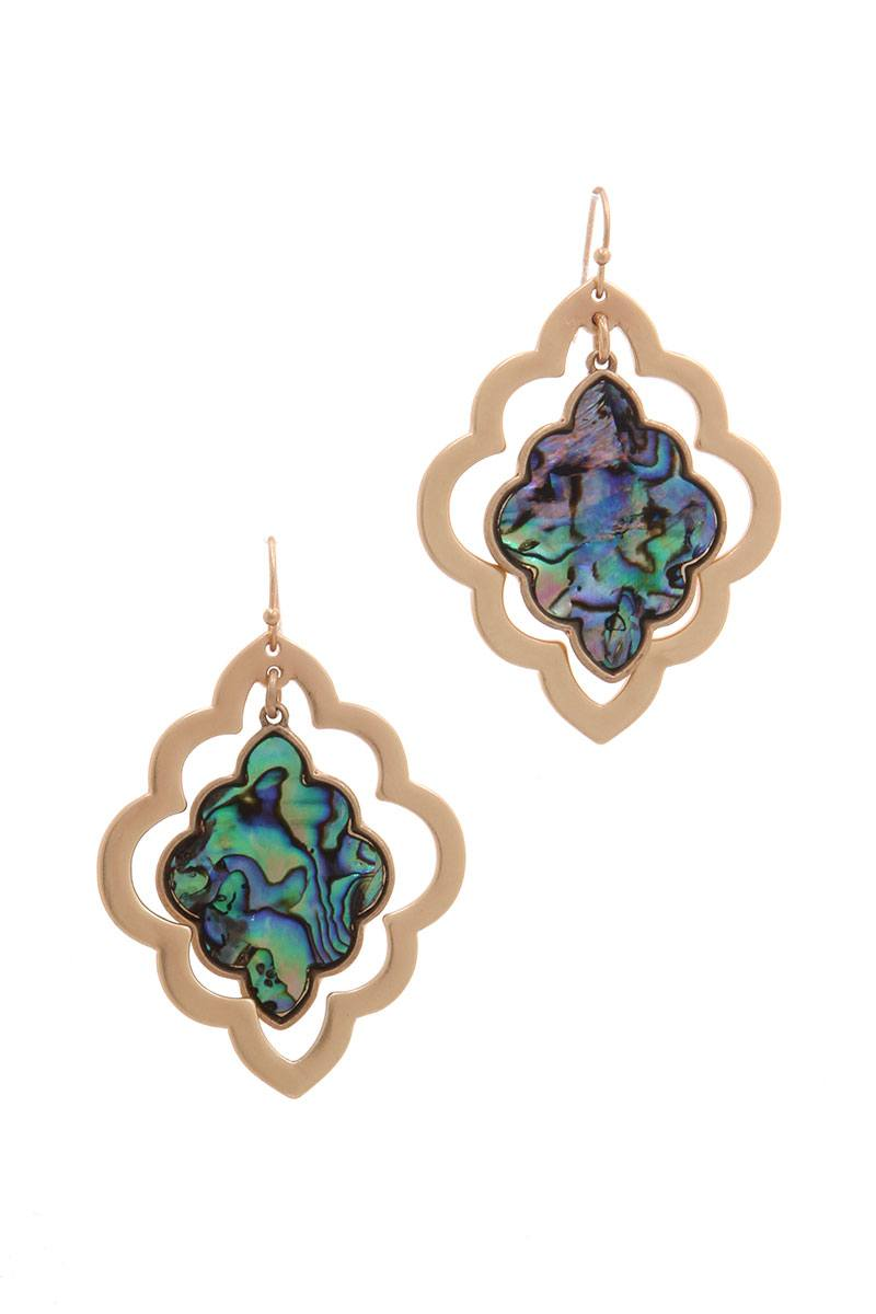 Moroccan Shape Drop Earring
