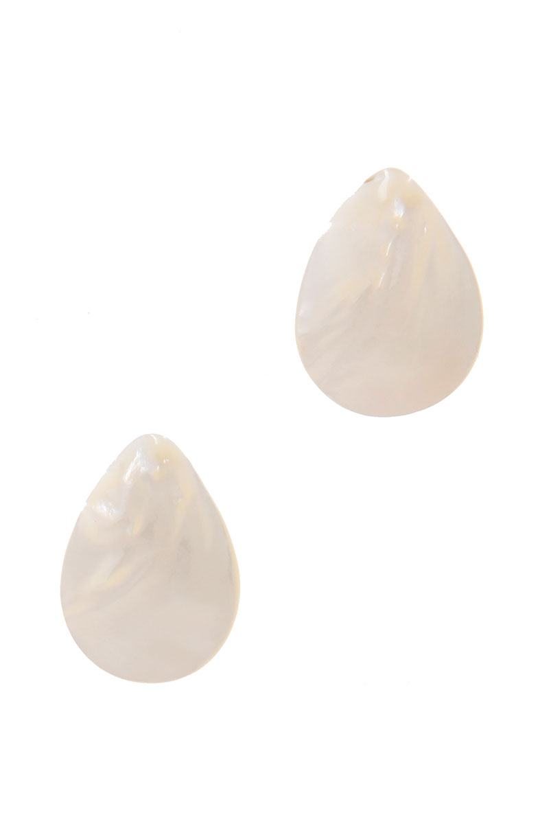 Teardrop Shape Post Earring