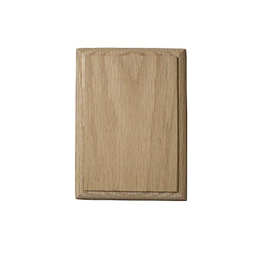 "4½"" x 6"" Rectangular Rosette (Red Oak)"
