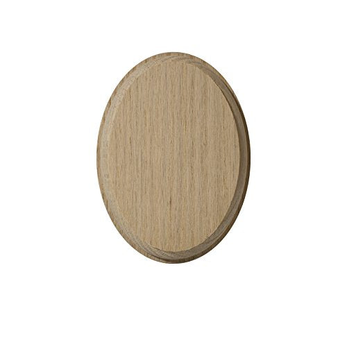 "4"" x 5¼"" Oval Rosette (Red Oak)"
