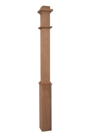"961 - Box Newel - Plain Style With Pedestal - 56"" x 4 1/2"""