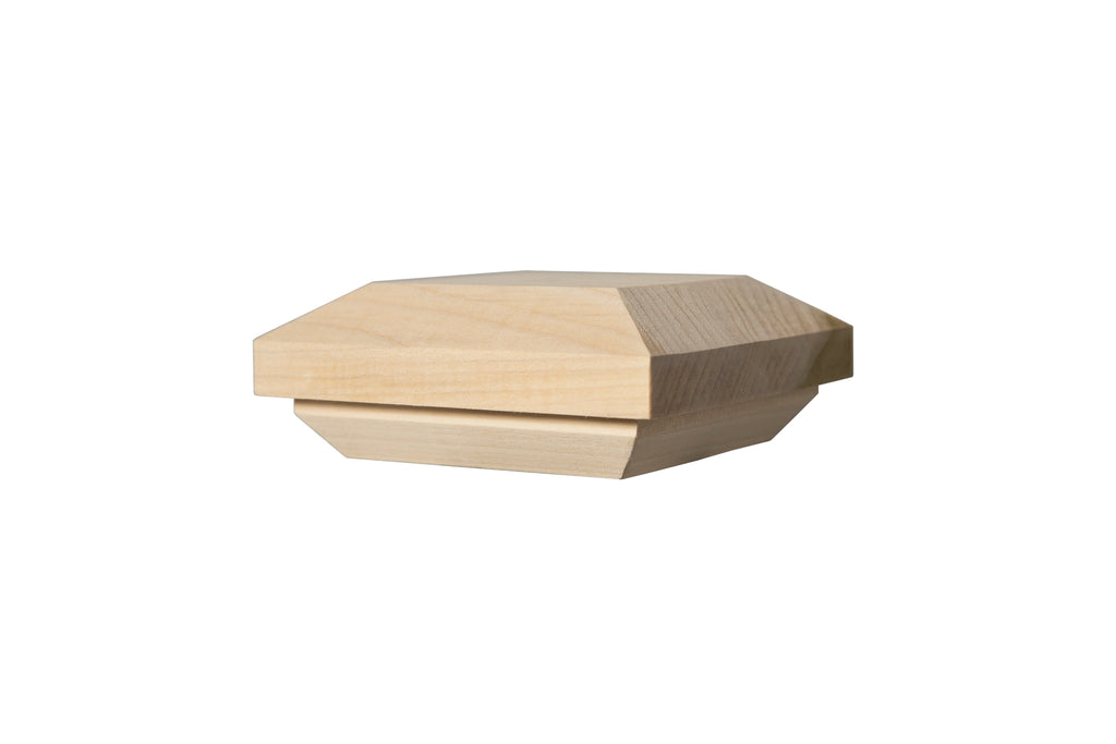 "C300 - Box Newel Cap - ""C"" Style Beveled Top - Fits 3"" Post"