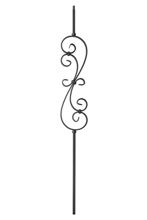 "T56 - Iron Baluster - ""S"" Scroll - 1/2"" x 44"""