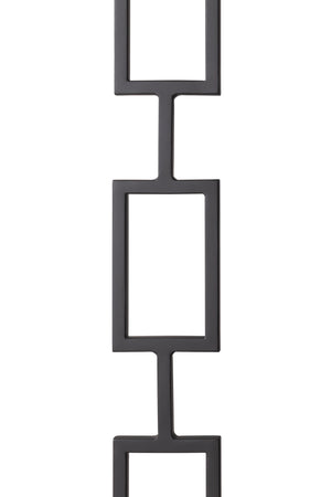 "T83 - Iron Baluster - Triple Rectangle - 1/2"" x 44"""