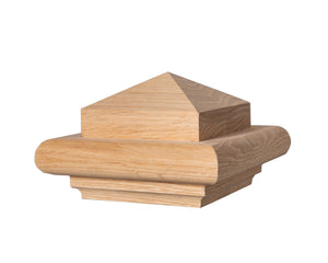 "B350 - Box Newel Cap - ""B"" Style Pyramid Top - Fits 3 1/2"" Post"