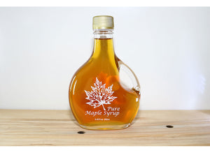 Maple Syrup - Glass Specialty Containers, Deer and Leaf options