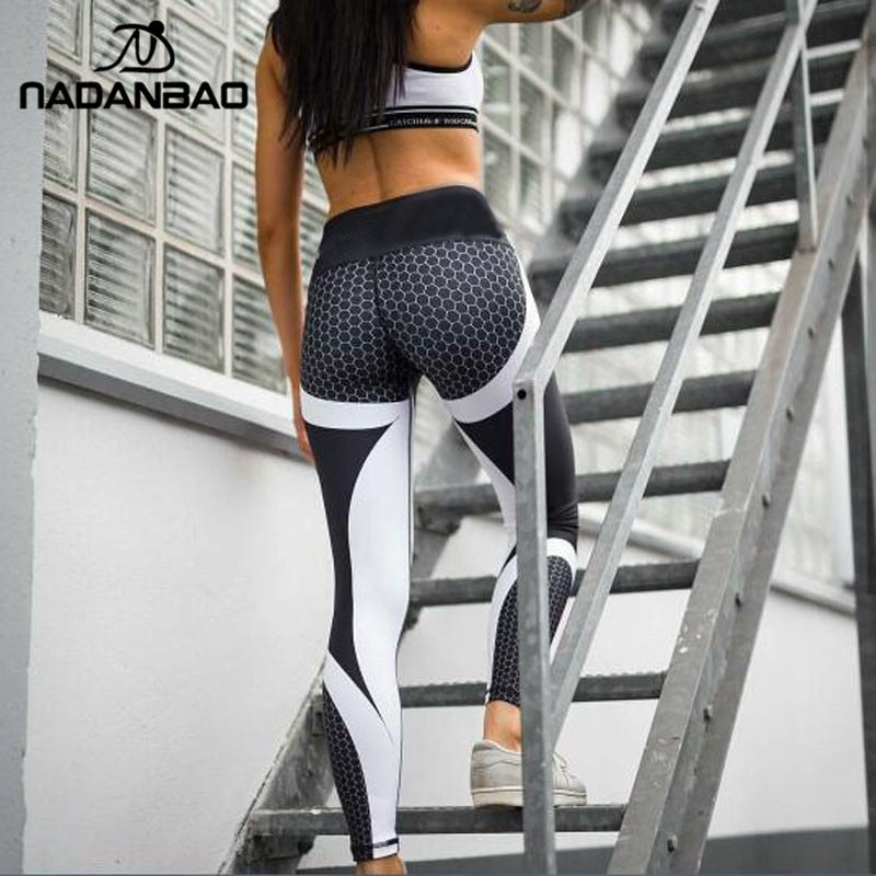 e23e890b27 ... Load image into Gallery viewer, NADANBAO New Arrival Pattern Leggings  Women Printed Pants Work Out ...