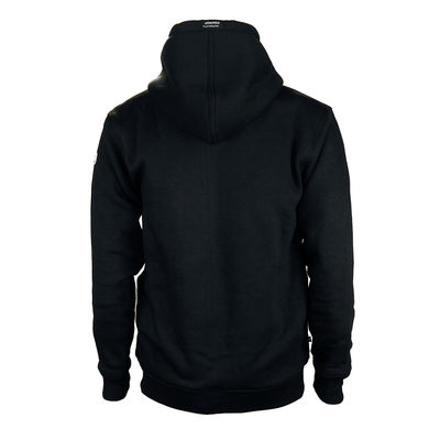 Black Armored Hoodie back, by LAZYROLLING
