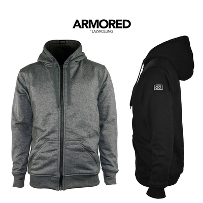 Armored Kevlar™ Hoodies in Grey and Black, by LAZYROLLING.