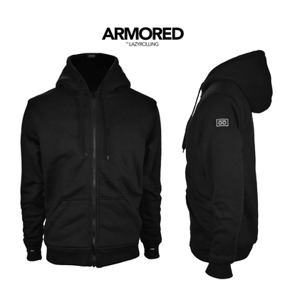 Black Armored Hoodie, by LAZYROLLING