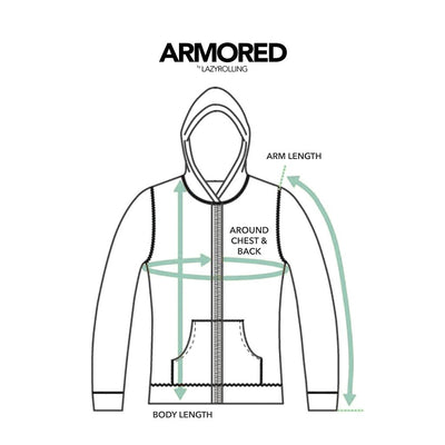 How to measure for the ARMORED JACKET, by LAZYROLLING