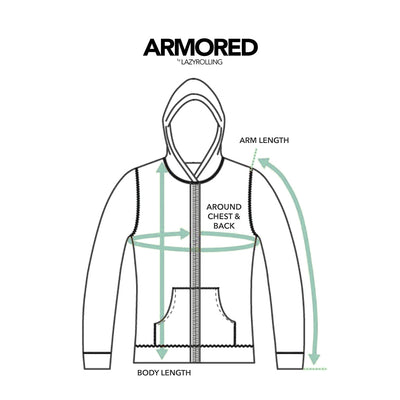 How to measure your ARMORED Hoodie or Jacket, by LAZYROLLING