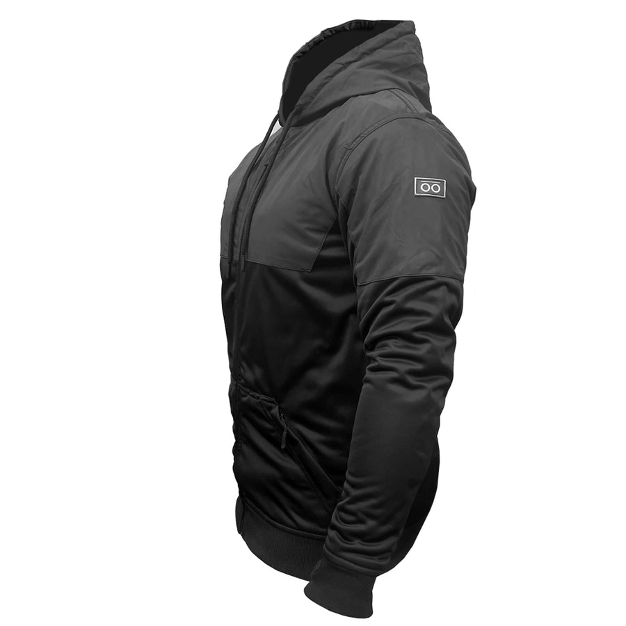 ARMORED BLACK ON BLACK REFLECTIVE PERFORMANCE HOODIE