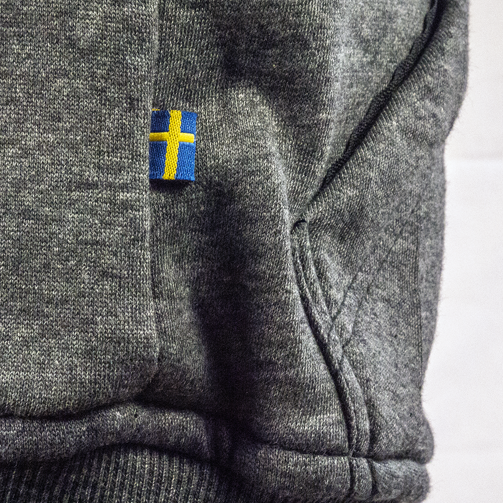 Grey Armored Hoodie Swedish design, by LAZYROLLING
