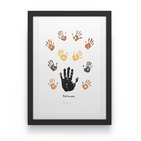 Artist Proof: Coloured Left Hand with Children